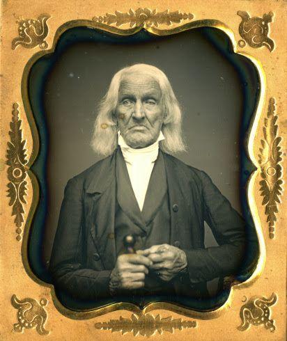 American Revolutionary War veteran Jonathan Smith, 1854 , one of the very few Revolutionary War veterans to ever have their photograph taken.