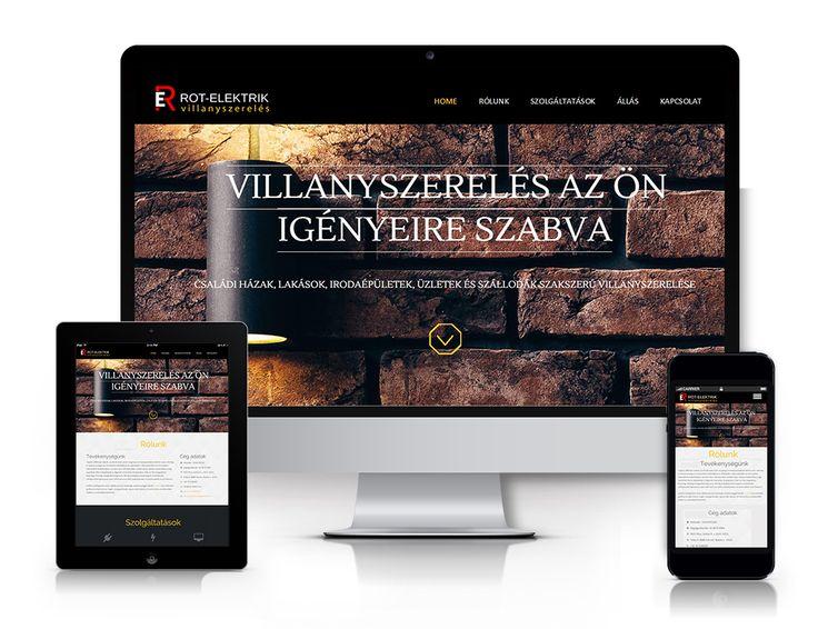 Rot-Elektrik responsive weboldal