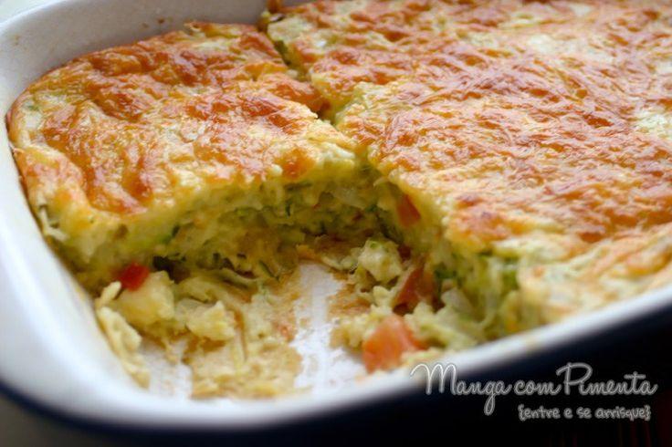 Torta de Abobrinha, essa receita é um grande sucesso lá no blog Manga com Pimenta, clique na imagem para ver como se prepara.