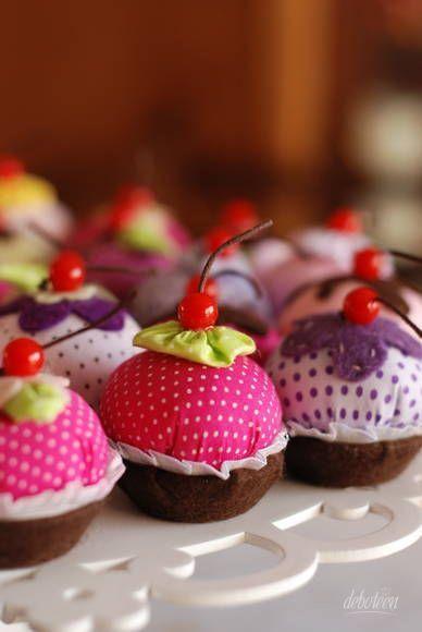 Sachês aromáticos em formato de cupcakes