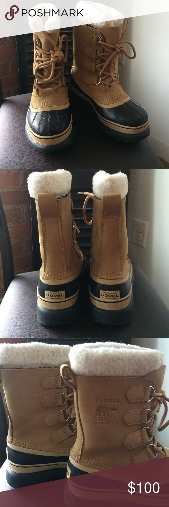 Sorel Caribou Boot Winter is getting close! get ready for it with these great like new Sorel Caribou Women's boots! They are in great condition, barely worn. A little big for me, so I wore heavy socks.  Sorel Shoes Winter & Rain Boots