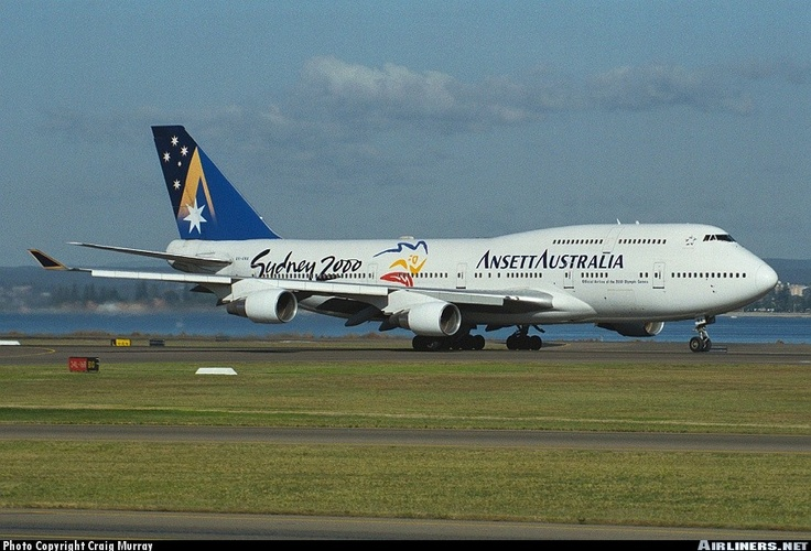 the now defunct Ansett Australia Airlines with the Sydney 2000 livery
