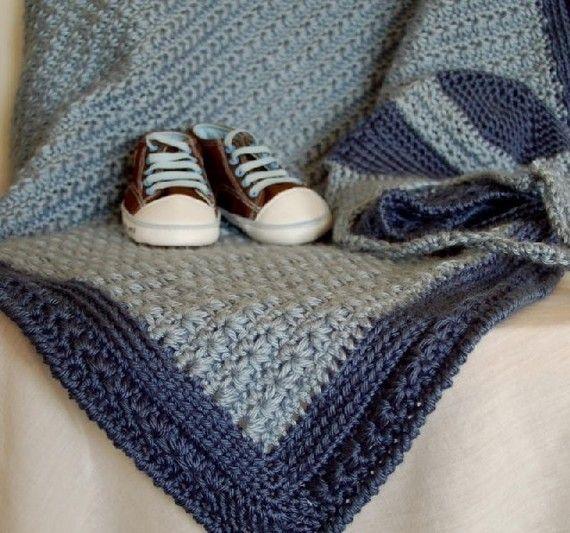 Baby Afghan Crochet Pattern Girl Boy Pink By