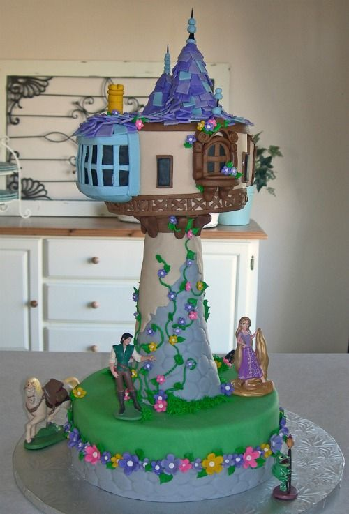 How To Make A Tangled Tower Cake Tutorial