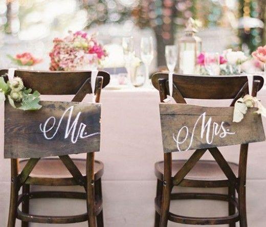 DIY Wedding Table Decoration Ideas | Bride n Groom Wedding Chairs | Click Pic for 20 Easy DIY Wedding Decorations