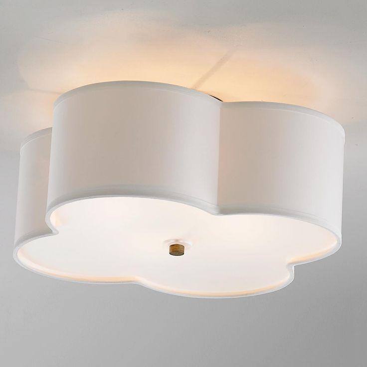 Scalloped Shade Semi-Flush Ceiling  Light - 4 light // basement fixtures