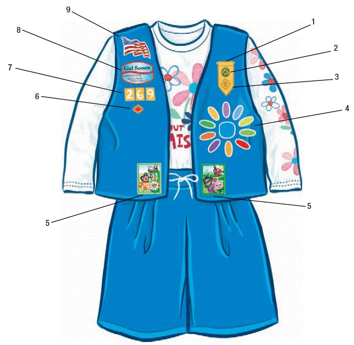 Daisy Petal Patch Placement | Geneva Girl Scouts » Daisy Uniform – Placement of Patches and ...