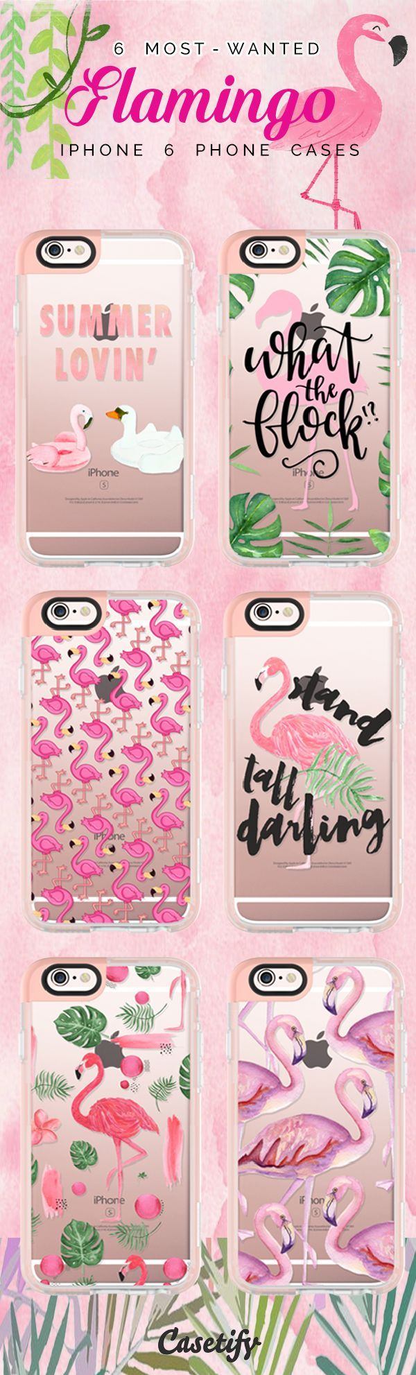 Top 6 Flamingo iPhone 6 protective phone case designs | Click through to see more iPhone phone case idea. Let's flamingo! >>> https://www.casetify.com/collections/iphone-6s-flamingo-cases?device=iphone-6s/ | @casetify