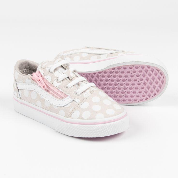 """Vans """"Old Skool Zip"""" Sneakers in Grau-Rosa mit Reißverschluss"""