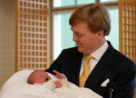 Foto van de Prins van Oranje met zijn dochter Prinses Ariane, 11 april 2007 © RVD