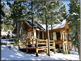 Cabañas en Bariloche nevado www.terrazascampanario.com.ar #cabañasenbariloche