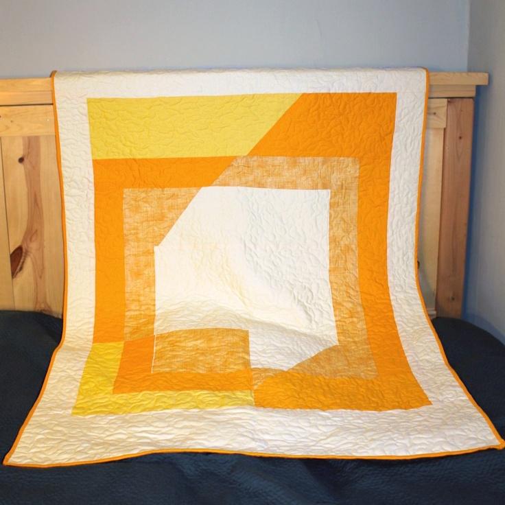 Josef Albers inspired quilt #orange #mustard