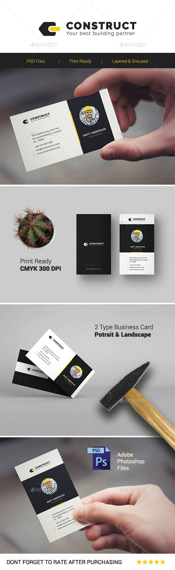 2334 best business card images on pinterest business card design construct multipurpose business card template reheart Images