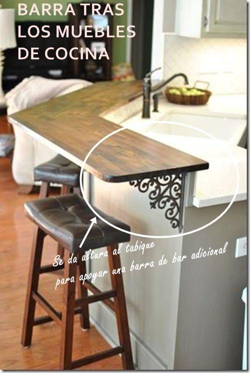 Las 25 mejores ideas sobre decoraci n barra de cocina en for Ideas para reformar cocina alargada