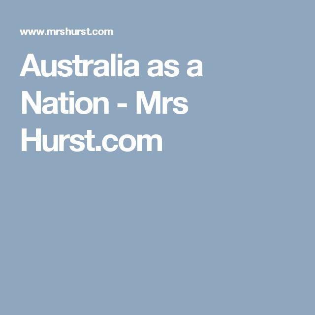 Australia as a Nation - Mrs Hurst.com