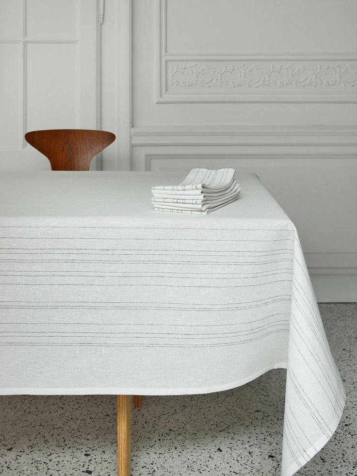 Strong form for a delicate feel- Lina Table linens from Alfred now at Linenproject.com