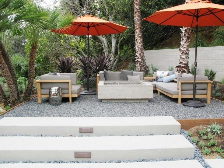 kiesboden fr die terrasse moderne gartengestaltung kies terrassegartenherausforderung ideenmoderne - Terrasse Im Garten Herausvorderungen