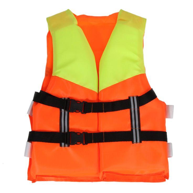 Orange drift juventud niños poliéster universal de pesca en balsa de prevención de inundaciones espuma chaleco salvavidas de natación de adultos de esquí canotaje
