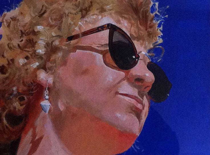 'Mandy in Venice' Acrylic on board 40 x 30 cms.