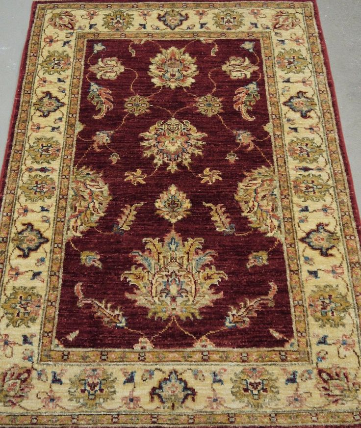 "NR: 19267 Location: Chobi Ziegler  Size: 3'10"" x 2'8"" Country: Afghanistan Pile: Wool Base: Cotton"
