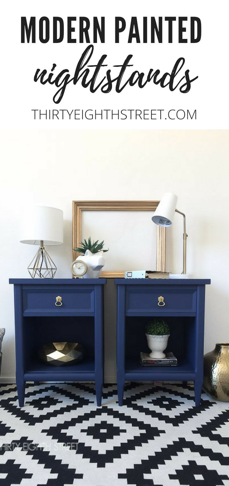 $50 Nightstand Makeovers! Modern Painted Nightstands With Country Chic Paint.   Thirty Eighth Street