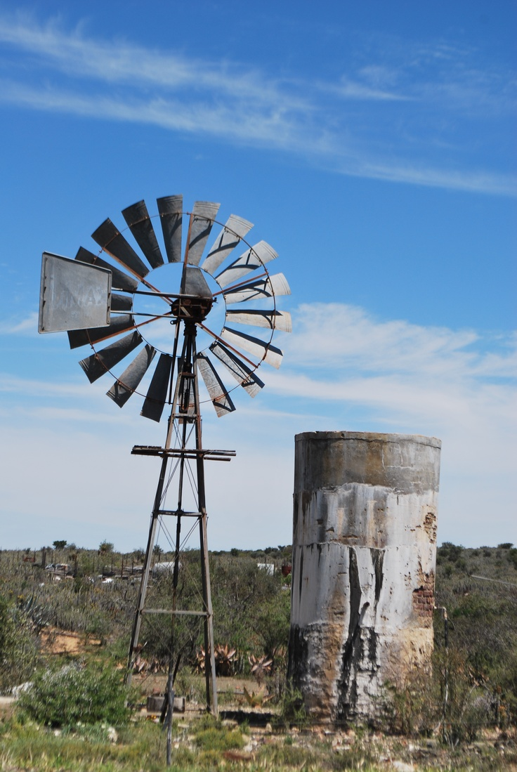 Windmills galore throughout the Karoo, South Africa