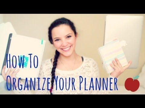 ▶ How to Organize Your Planner for School : Binder, Notebook, Online & Daily Planner - lx3bellexoxo ♡ - YouTube