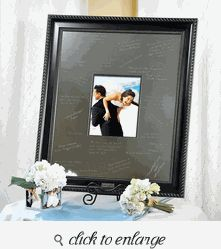 elegant signature picture guest book frame with engraved photo mat guest book ideas for wedding