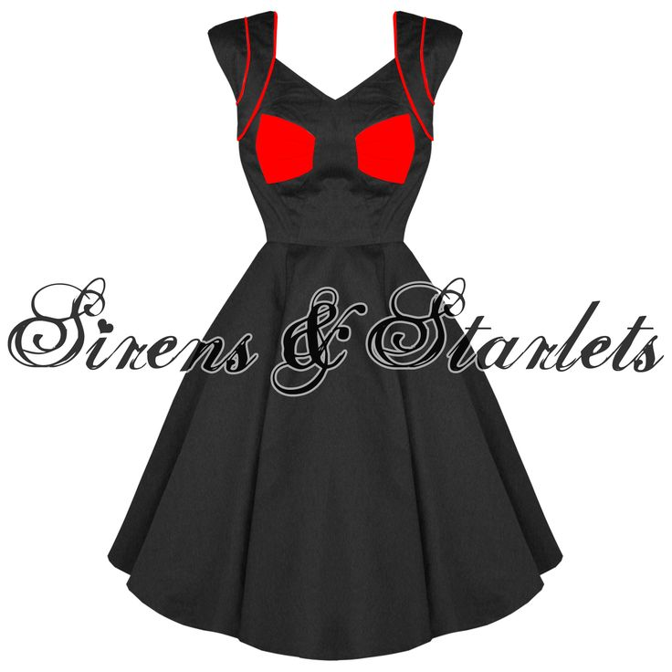 HEARTS AND ROSES LONDON NEW RED BOW 50S VINTAGE ROCKABILLY PARTY PROM DRESS Preview