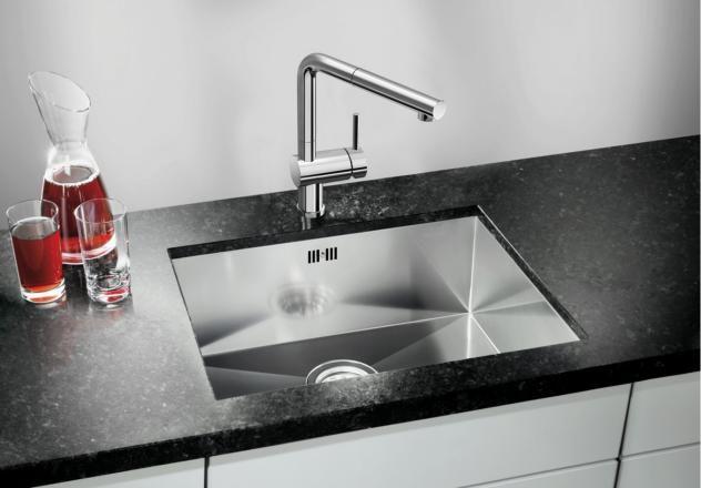 Zero Radius Bowl With Rectangular Geometry Kitchen Sinks Blanco Kitchenideas