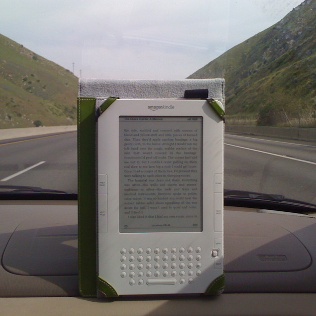 Reading on the Interstate 5N. September 2010.