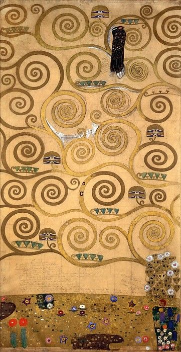 Панно для столовой дворца Стокле. Австрийский музей прикладного искусства, Вена (Österreichisches Museum für angewandte Kunst, MAK, Wien). 1905-11