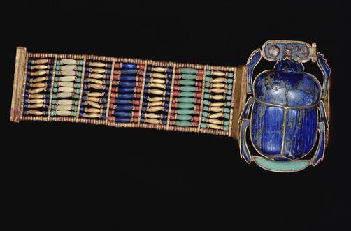 Egypt   King Tut's bracelet with scarab, Cairo Museum   ©Mark Moffett