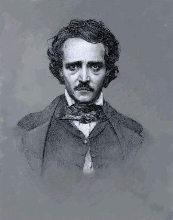 Edgar Allan Poe (American romanticism & horror novelist, short-story writer, editor, & poet. author of The Raven, The Tell-Tale Heart, and The Pit & the Pendulum. [1809-1849]