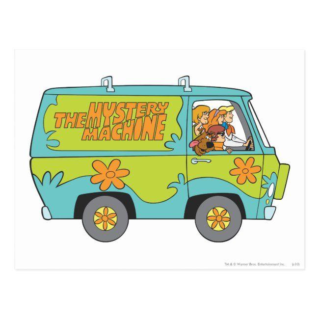 The Mystery Machine Right Side Postcard Zazzle Com Scooby Doo Images Scooby Doo Mystery Scooby Doo