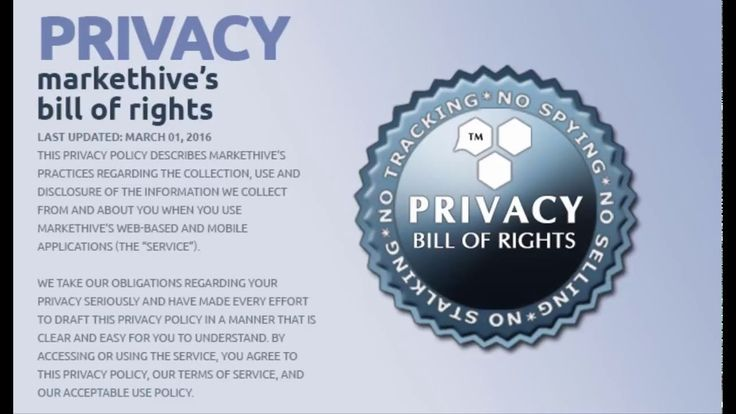 Markethive Bill of Rights and Privacy