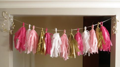 how to on tissue paper banners.