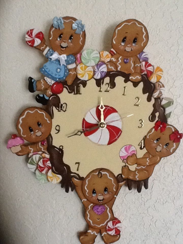 HP GINGERBREAD ~ A YUMMY GINGERBREAD CLOCK!!