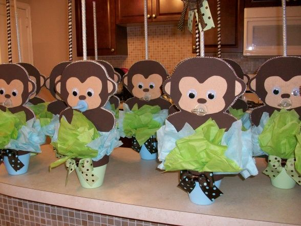 25 best ideas about baby shower monkey on pinterest monkey themed baby shower jungle theme - Baby shower monkey decorations for a girl ...