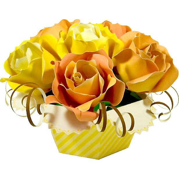 春の訪れに素敵な黄色いバラのブーケ✨➡️https://goo.gl/JSpk4e が簡単無料ダウンロードで作れちゃいます (*˘︶˘*).。.:*♡お部屋 が明るくなるイエローで運気UP✨春のインテリア に💐♪プレゼント💝と一緒に作ってみませんか?(*˘︶˘*).。.:*♡ #クラフト #フラワー #黄色い #バラ #ブーケ #インテリア #プレゼント #部屋