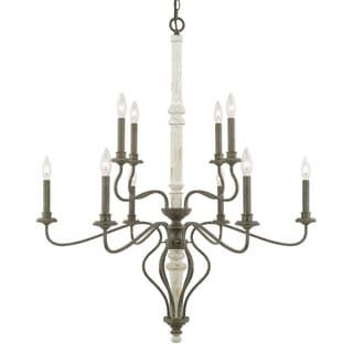 Capital Lighting Nora Collection 10-light French Country Chandelier   Overstock.com Shopping - The Best Deals on Chandeliers & Pendants