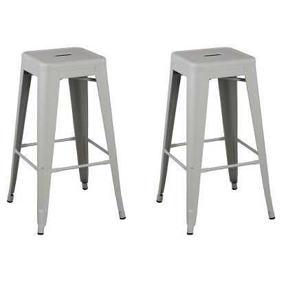Carlisle Backless Metal Barstool - Set of 2  sc 1 st  Pinterest & 50 best Furniture: Barstools images on Pinterest | Kitchen ideas ... islam-shia.org