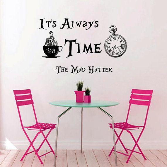 Wall Decals Quotes Alice In Wonderland Wall Decal Quote