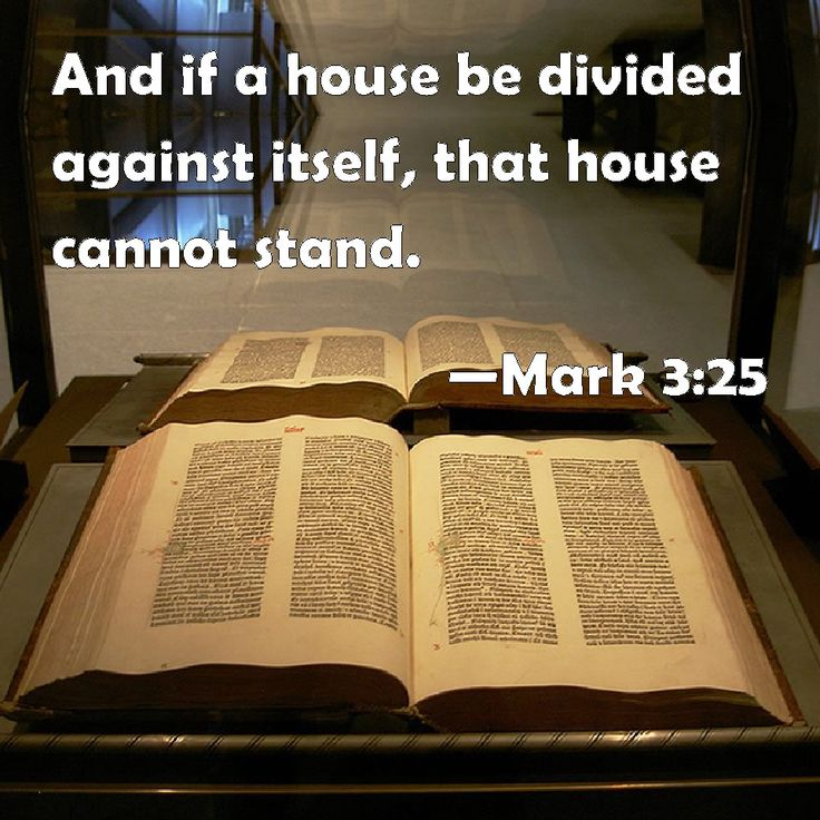 bible quote a house divided cannot stand 2
