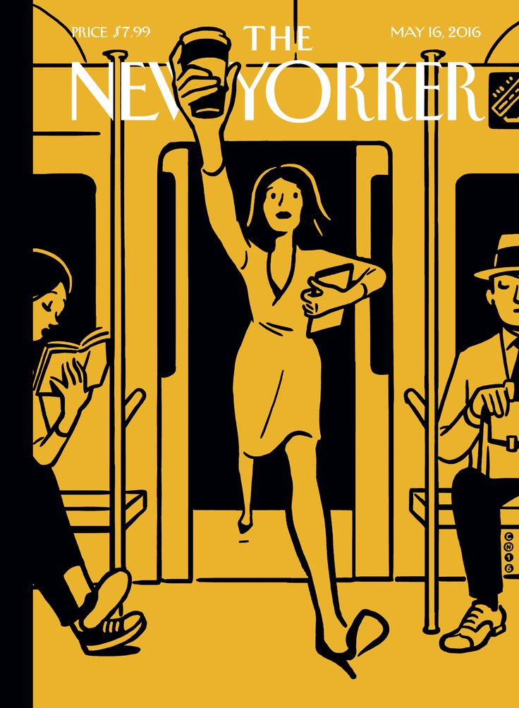 "The New Yorker - Monday, May 16, 2016 - Issue # 4639 - Vol. 92 - N° 14 - « The Innovators Issue » - Cover ""On the Go"" by Christoph Niemann 2/2"