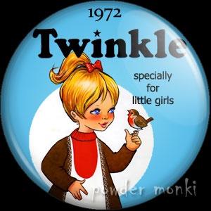 Twinkle Annual 1972 - Badge/Magnet ~ www.powdermonki.co.uk ~ £0.99
