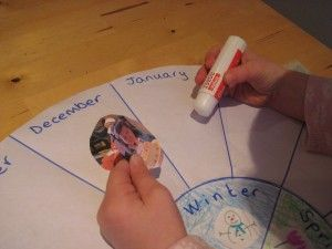 Teach children about time - make a family calendar