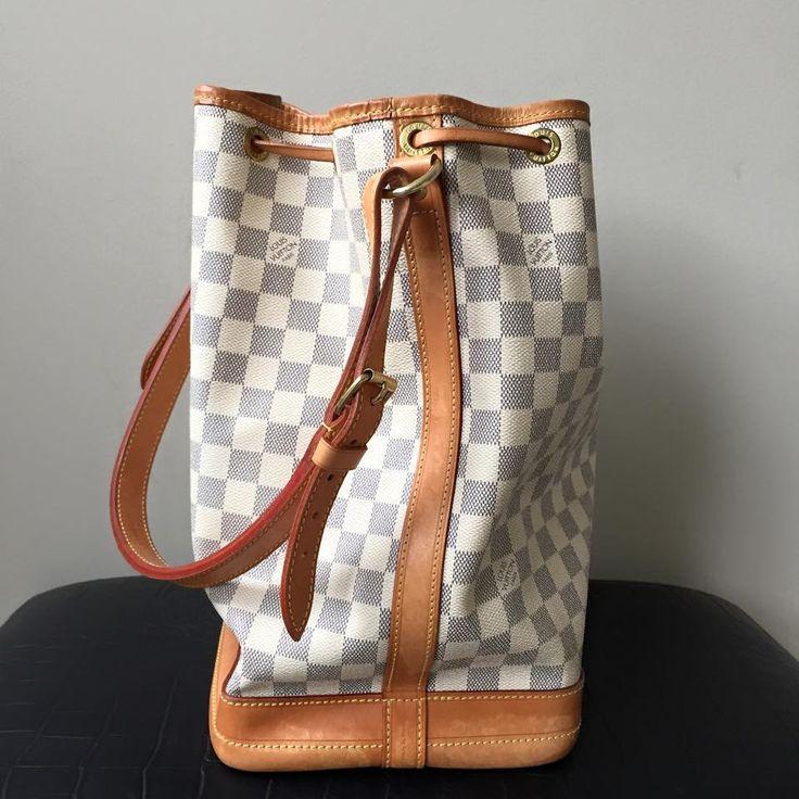 Louis Vuitton Damier Azur Noe Bucket Bag
