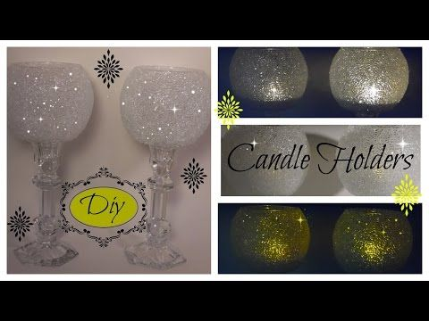 BLING DIY -   THE ORIGINAL FROSTY BLING CANDLE HOLDER - WEDDINGS - DOLLAR TREE/GOODWILL/MICHAELS - YouTube