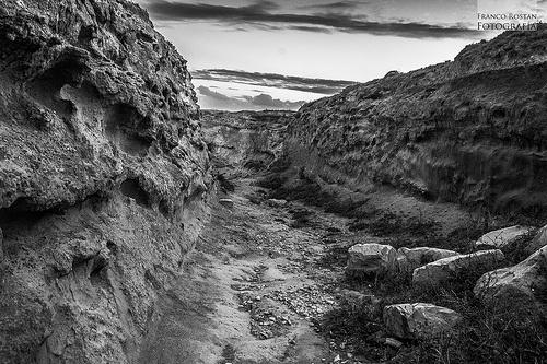 Un camino rocoso!